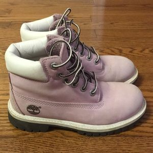 Pink Timberland work boot size 13.5